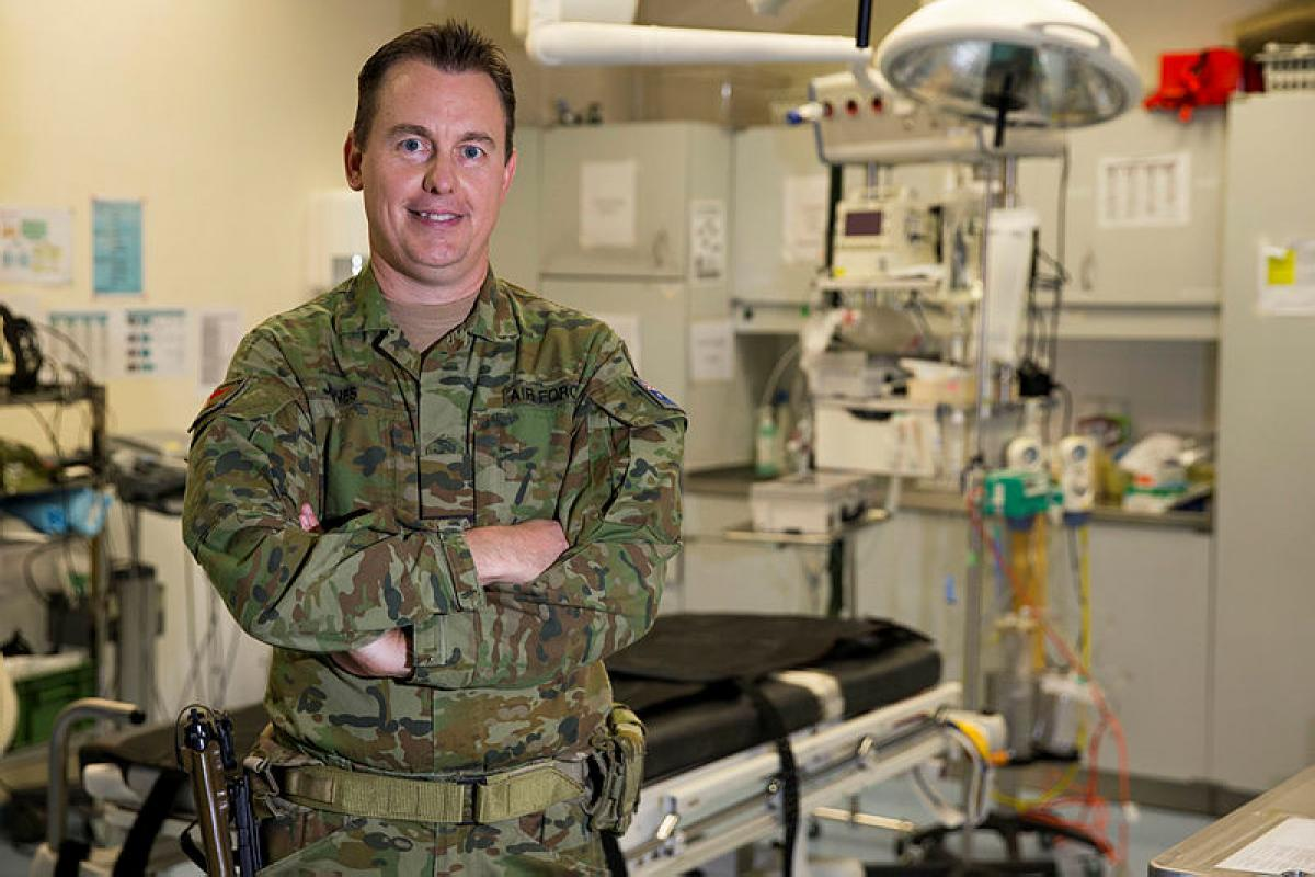 Flight Lieutenant Matthew Jones is currently deployed to Task Group Afghanistan as a doctor at the Hamid Karzai International Airport military hospital in Kabul, Afghanistan.