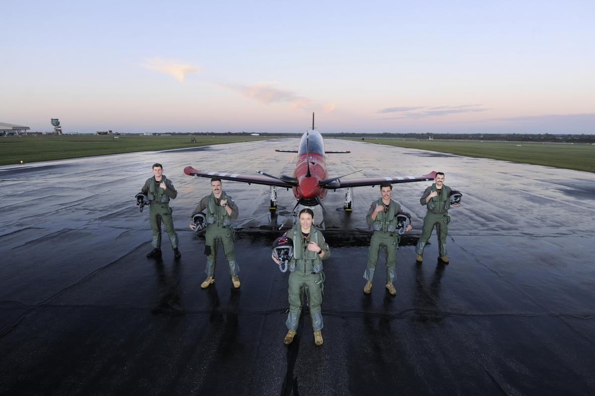 Graduates of No. 258 Advanced Pilots Course from No. 2 Flying Training School at RAAF Base Pearce. Photo: Chris Kershaw