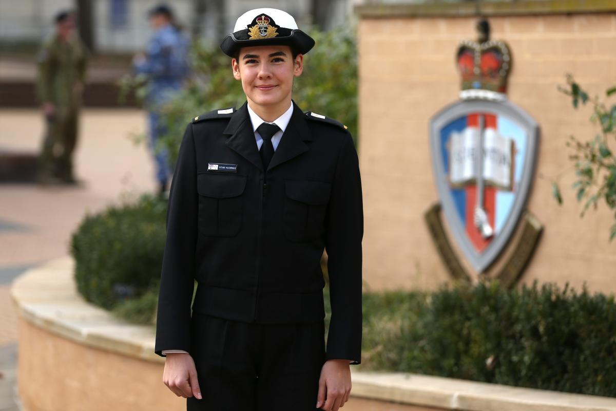 Midshipman Tiffany McCormack at the Australian Defence Force Academy in Canberra. Photo: Corporal Julia Whitwell