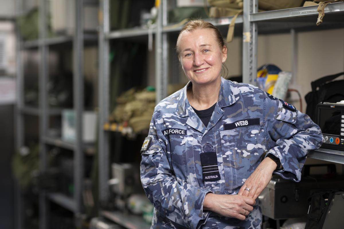 Squadron Leader Helen Webb is deployed on Operation Accordion in the Middle East region as a medical scientist. Photo: Corporal Tristan Kennedy