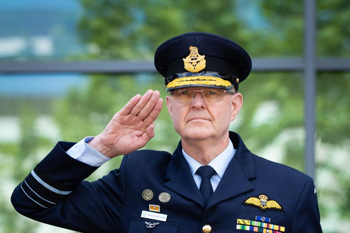 Outgoing Chief of Joint Capabilities Air Marshal Warren McDonald. Photo:  Kym Smith