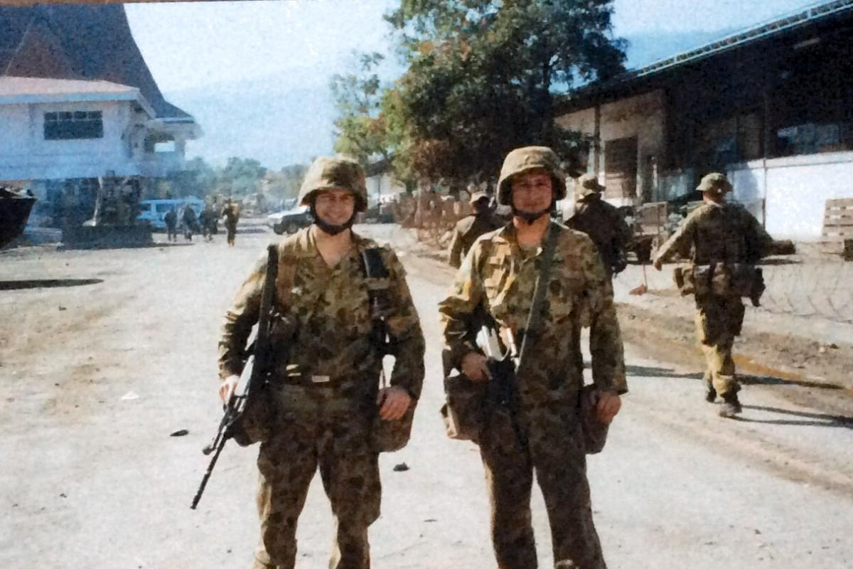 Colonel, then Captain, Scott Palmer on the streets of Timor-Leste.