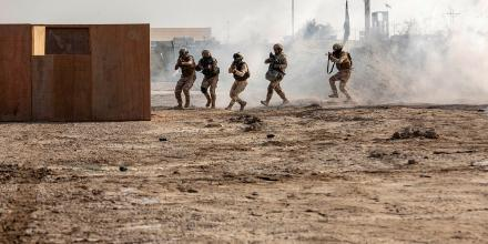 Iraqi Security Forces soldiers participate in a culminating exercise at the Taji Military Complex, Iraq. Photo: Corporal Tamara Cummings