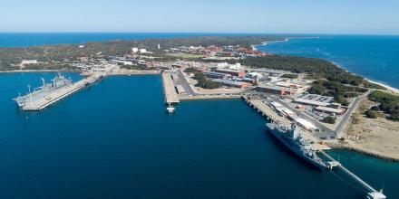 HMAS Stirling and Fleet Base West in Western Australia. Photo: Chief Petty Officer Damian Pawlenko