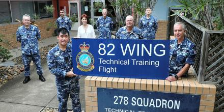 Air Force's No. 278 Squadron marked its closure with the preservation of a building sign at RAAF Base Amberley, Queensland.