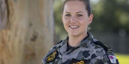 Able Seaman Brittany Alexander transferred from the Canadian Navy to the Royal Australian Navy in 2015. Photo: Chief Petty Officer Cameron Martin