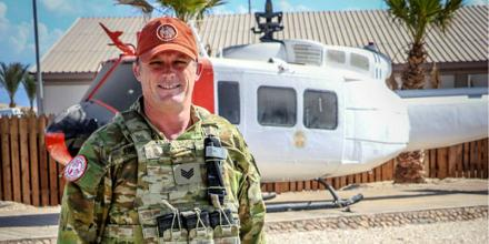 Sergeant Tim O'Brien at the Multinational Observer Force's South Camp near Egypt's Sharm el Sheikh on the southern tip of the Sinai Peninsula.
