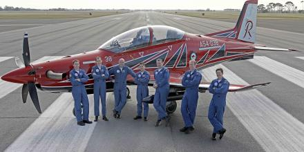 The new Roulettes have been working hard to deliver some impressive flying displays in the PC-21 aircraft.