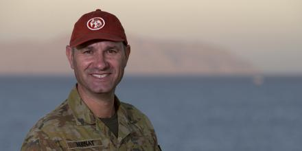 Major Dave Bernat is the lead planner at the headquarters of the Multinational Force and Observers in Egypt. Photo: Sergeant Kirk Peacock