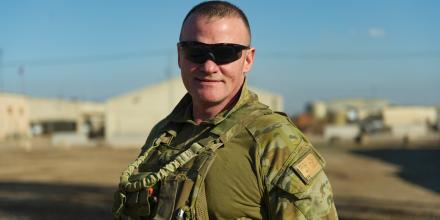 Major Anthony Bartlett at the Taji Military Complex, Iraq. Photo: Captain Roger Brennan