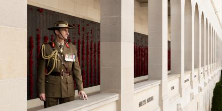 Chief of the Defence Force General Angus Campbell at the Australian War Memorial. Photo: Jay Cronan
