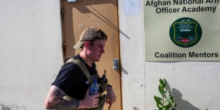 Private Daniel Norton ran 23 laps of Camp Qargha in Afghanistan in memory of his friend who passed away.