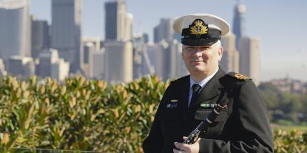 Lieutenant Daniel Hobson was promoted to maritime logistics officer. Photo: Private Olivia Cameron