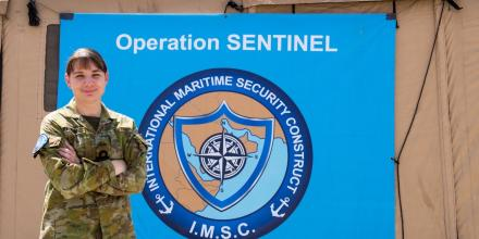 Commander Jennifer Parker is deployed on Operation Manitou, embedded with the International Maritime Security Construct in Bahrain.