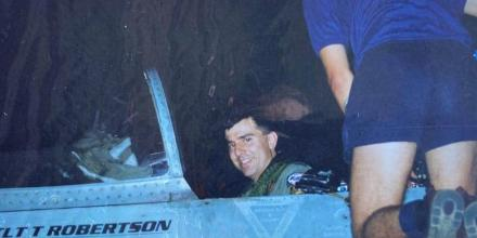 The now Air Commander of Australia, Air Vice-Marshal Joe Iervasi, as a young pilot on Exercise Pitch Black 1997.