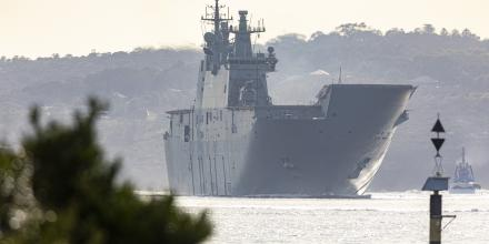 HMAS Canberra returns to Fleet Base East, Sydney, after a three-month Regional Presence Deployment through South-East Asia. Photo: Aircraftman Stewart Gould