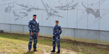 Husband and wife Squadron Leader Mark Rankin and Flight Lieutenant Eva Rankin have both been awarded the Air Force NAIDOC Week Maliyan Medallion for advancing the Air Force Indigenous Strategy.