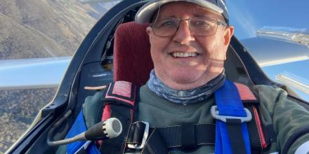 Avid glider pilot Commodore Drew McKinnie knows the value of blood donations and is encouraging participation in this year's blood challenge.