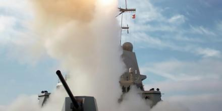 HMAS Brisbane's live missile engagement in the US.