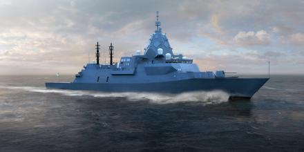 An artist's impression of the new Hunter-class frigate.